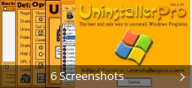 Screenshot-Collage für Uninstaller Pro