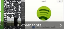 Screenshot-Collage für Spotify