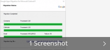 Screenshot-Collage für G Suite Migration For Microsoft Outlook®