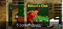 Screenshot-Collage für Billiards Club