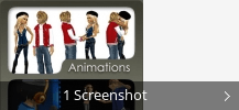 Screenshot-Collage für IMVU 3D messenger