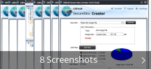 Screenshot-Collage für GiliSoft Secure Disc Creator