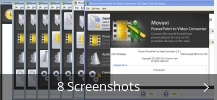 Screenshot-Collage für Movavi PowerPoint to Video Converter
