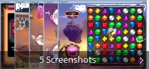 Screenshot-Collage für Bejeweled 3