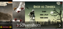 Screenshot-Collage für Biker vs Zombies