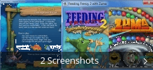 Screenshot-Collage für Feeding Frenzy with Zuma